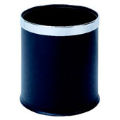 Badroom bin 10 l. in-floor, with a removable ring, plastic, black, 225 * 225 * 260 mm.