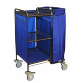 Housekeeping trolley with 3 shelfs Medium Density Fibreboard, with 2 linen bags, steel, 550*800*1100 mm.