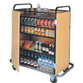 Trolley for minibars replenishing with lockable doors, Medium Density Fibreboard/stainless steel, 800*550*1000 mm.