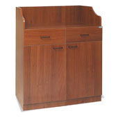 Waiter station ROCAM MEDUSA 2/2, 2 drawers with inner dividers, 2 doors, drawer, castors, laminated chipboard, 945*600*1184 mm.