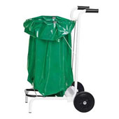 Trolley for cleaning, for leaves removing, bag made of waterproof fabric, steel, polymer coloring, 500*500*900 mm.