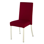 Chair Burgess Kilo 64/1, alum.frame, fabric upholstery, aluminium, 460*560*950 mm