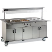 Buffet ROCAM EROS 3 BM IN heated  by mechanical thermostat , upper sneezeguard, 2 folding tray-holders, entirely made of stainless steel, doors, light