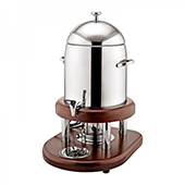 Electric coffee/water dispenser, wooden stand, stainless steel, 420*330*550 mm.