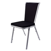 Chair Burgess VIO 04/2,  alum.frame, fabric upholstery, aluminium, 460*630*880 mm