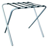 Folding Luggage stand, metal, chrome, 630*440*540 mm. batch Multiplicity of 5 PCs.