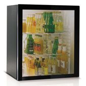 Minibar/mini-refrigerator with absorption system VITRIFRIGO C600 SV  55l., glass door, black, 485*465*560 mm.