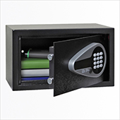 Safe, electronic locking mechanism, key, screen, audit, steel, 350*200*200 mm.