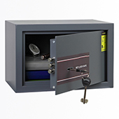 Safe, key locking mechanism, steel, 310*200*200 mm.