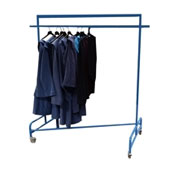 Garment rack, metal, dark blue, 1800*600*1800mm.