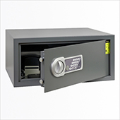 Safe, electronic locking mechanism, key, steel, 442*380*200 mm.