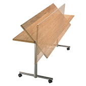 Table Burgess Flip-Top FLT.1 folding, rectangle, clipboard top, stainless steel, 1500*600*760 mm