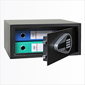 Safe, electronic locking mechanism, key, screen, audit, steel, 442*380*200 mm.