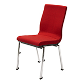 Chair Burgess Flair 17/1, alum.frame, fabric upholstery, chrome.legs, aluminum,475*580*880 mm