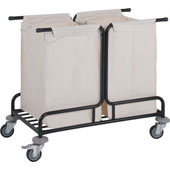 Housekeeping trolley, steel tubing structure, 2 bags, steel, polymer cover, 550*800*950 mm.