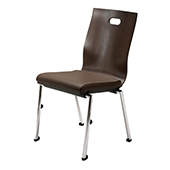 Chair Burgess Flair 17/2,  alum.frame, hard back, chrome.legs, aluminum, 475*580*880 mm