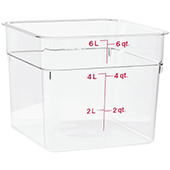 Food storage 5,7l., color-clear. Dimension: 21,5x21,5x18,5 cm
