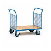 Platform trolley for warehouse, steel tubing frame, bottom from plywood, steel, polymer coloring, 550*1000*900 mm.