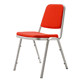 Chair Burgess Pio 01/1, alum.frame, fabric upholstery, aluminium  460*590*800 mm