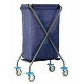 Housekeeping trolley, steel tubing structure, foldable, bag with lid, bag platform, steel, polymer cover, 500*600*1000 mm.