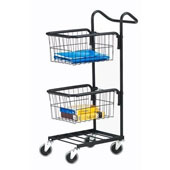 Housekeeping trolley with 2 baskets, shelf, steel, 550*600*950 mm.
