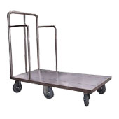 Platform trolley for housemaids, profiled tube frame, covered with a sheet, stainless steel, 600*900*950 mm.