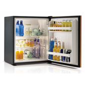 Minibar/mini-refrigerator with absorption systemVITRIFRIGO C600 SL  55l., with wooden door panel, black, 485*460*560 mm.