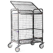 Housekeeping trolley, steel tubing structure with opening front side, steel, polymer cover, 550*800*950 mm.