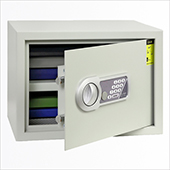 Safe, electronic locking mechanism, key, steel, 350*250*250 mm.