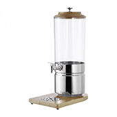 Beverage dispenser, stand in wood, stainless steel, 230*350*560 mm.