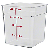 Food storage 7,6l., color-clear. Dimension: 21,5x21,5x23 cm