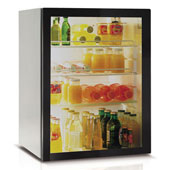 Minibar/mini-refrigerator with compressor VITRIFRIGO C60 PV 60l., glass door, black, 470*475*619 mm.