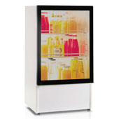 Minibar/mini-refrigerator with compressor VITRIFRIGO LT75 PV 75l., glass door, white, 450*435*795 mm.