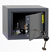 Safe, key locking mechanism, steel, 230*170*170 mm.