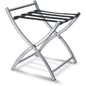 Luggage rack, foldable with back, metal, chrome, 500 * 480 * 540 mm.