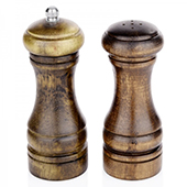 Pepper mill, ceramic grinding mechanism, wooden, 130 mm.