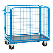 Housekeeping trolley, base panel from Medium Density Fibreboard, steel, polymer cover, 650*1250*950 mm.