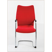 Chair Burgess Forum 37/8, steel frame, padded seat and back, plastic armrests, steel, 540*610*1015 мм.