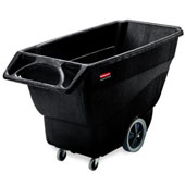 "Tilt truck RUBBERMAID FG101100BLA,  ""steering wheel"" handle and extra handle at the bottom for dumping, up to 272 kg., polyethylene, black, 768*1638*9"