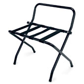 Luggage rack, foldable with back, metal, black, 610 * 560 * 650 mm.