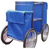 Housekeeping trolley with bicycle castors for sandy beaches, steel, 550*1030*1100 mm.