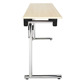 Table Burgess System-C SYS.2, folding, rectangle, clipboard top, stainless steel , 1500*450*760 mm