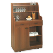 Waiter station ROCAM PERSEO A/1, 2 drawers with inner dividers, door, 3 drawers, castors, laminated chipboard, 948*470*1508 mm.