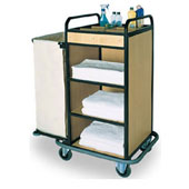 Housekeeping trolley with 4 shelfs, with linen bag, Medium Density Fibreboard/stainless steel, 900*550*1100 mm.