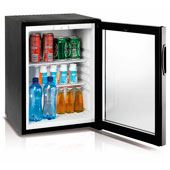 Minibar/mini-refrigerator with absorption system VITRIFRIGO HC30  30l. glass door, black, 402*420*500 mm.