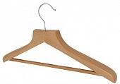 Aslotel hook deluxe trouser bar coathanger natural wood