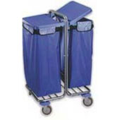 Housekeeping trolley, steel tubing structure, 2 bags with lids, steel, polymer cover, 550*650*1100 mm.