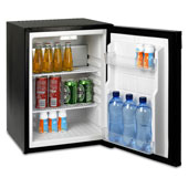 Minibar/mini-refrigerator with absorption system  VITRIFRIGO HC40  40l., black, 402*450*560 mm.
