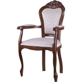 Arm chair, upholstery of seat and back rest from fabric of 2 category, hard beech, 500*430*1020 mm.