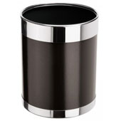 Badroom bin 10 l . in-floor, with a removable ring, metal, brown, 220 * 220 * 280 mm.